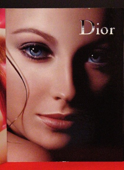 Christian Dior 2-sided Original Store Display 2' x 3' Rare 2007 MINT