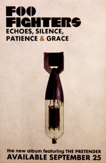 Foo Fighters * ECHOES SILENCE PATIENCE & GRACE * Original Music Poster 2' x 3' Rare 2007 Mint