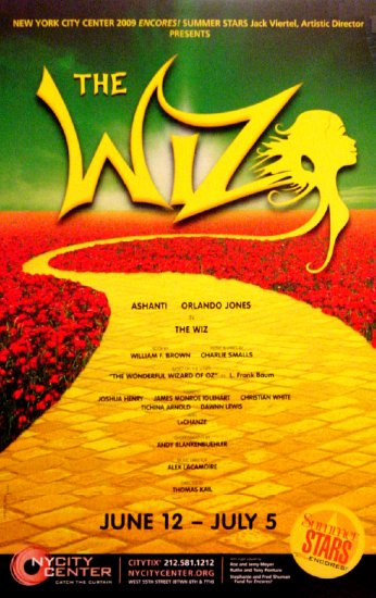 "THE WIZ New York City Center Poster 14"" x 22"" Rare 2009 NEW"