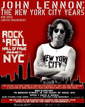 John Lennon * NEW YORK CITY YEARS * Exhibit Poster 3' x 4' Rare 2009 MINT