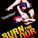 "Jason Gilkison's * BURN THE FLOOR * Broadway Poster 14"" x 22"" Rare 2009 MINT"