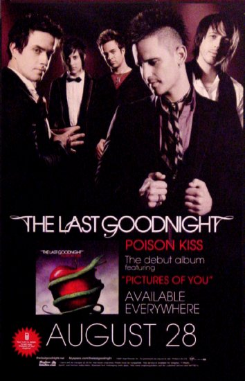 "The Last Goodnight * POISON KISS * Music Poster 14"" x 22"" Rare 2007 NEW"