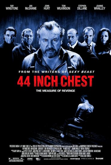 """44 Inch Chest Movie Poster * RAY WINSTONE * 27"""" x 40"""" Rare 2010 NEW"""