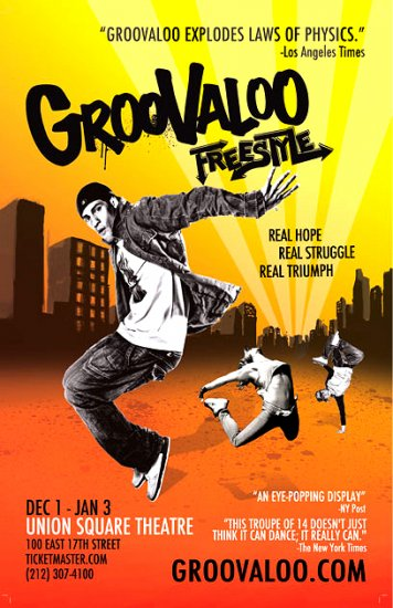 """GROOVALOO Off-Broadway Poster 14"""" x 22"""" Rare 2010 MINT"""