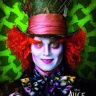 Tim Burton's Alice in Wonderland Orig Movie Poster Johnny Depp * MAD HATTER * 4' x 6' Rare 2010 NEW
