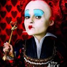 Burton's Alice in Wonderland Orig Movie Poster Helena Bon Carter * RED QUEEN * 4' x 6' Rare 2010 NEW