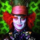 Tim Burton's Alice in Wonderland Orig Movie Poster Johnny Depp * MAD HATTER * 4' x 6' Rare 2010 NEW