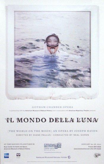 """Gotham Chamber Opera * IL MONDO DELLA LUNA * Poster 14"""" x 22"""" Rare 2010 MINT"""