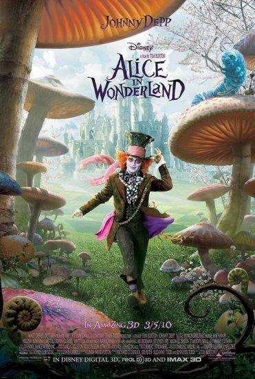 Tim Burton's Alice in Wonderland Movie Poster Johnny Depp * MAD HATTER * 4' x 6' Huge Rare 2010 NEW