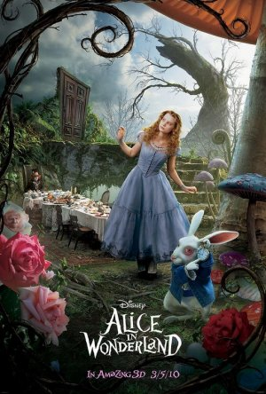 Tim Burton's Alice in Wonderland Orig Movie Poster * ALICE * 4' x 6' Huge Rare 2010 NEW
