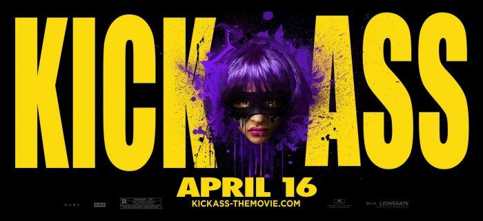 KICK-ASS Original Movie Poster * HIT GIRL * 4' x 5' Rare 2010 NEW