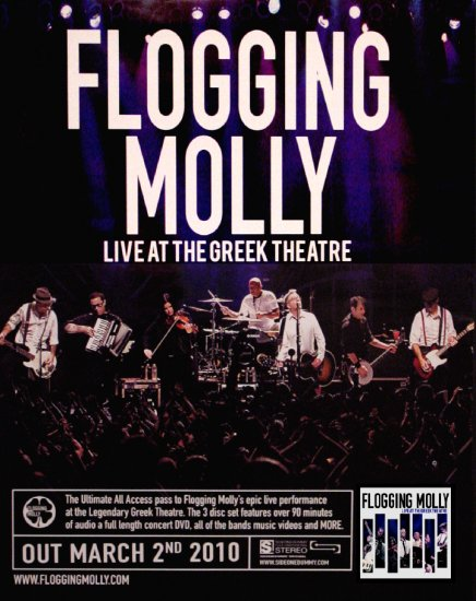 Flogging Molly * GREEN 17 TOUR * NYC Concert Poster SET 2' x 2' Rare 2010 NEW