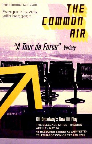 "The Common Air * ALEX LYRAS * Original Off-Broadway Poster 14"" x 22"" Rare 2010 NEW"