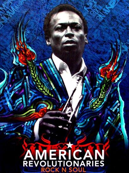 American Revolutionaries * MILES DAVIS * RETNA Poster 2' x 3' Ovation* Rock N' Soul *2009 NEW