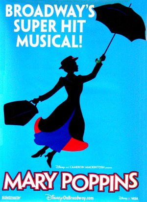 Disney's MARY POPPINS Original Broadway Poster 4' x 6' Rare MINT 2006