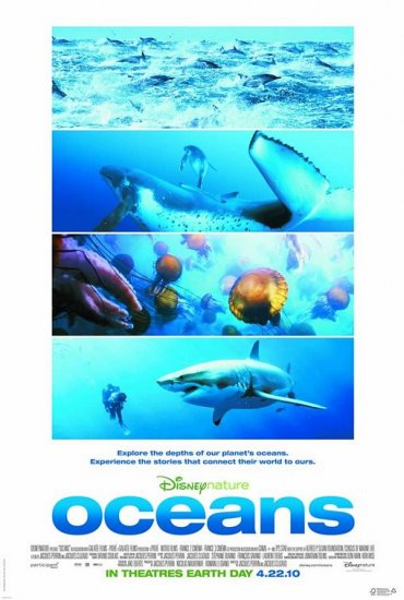 Disney's OCEANS Original Movie Poster * JACQUES PERRIN * 27 x 40 DS Rare 2010 NEW
