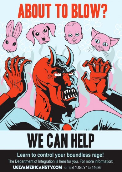 UGLY AMERICANS Poster * COMEDY CENTRAL * 3' x 4' Rare NEW 2010