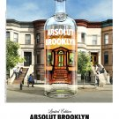 Absolut BROOKLYN Original Vodka AD Poster 2' x 3' Rare 2010 Mint