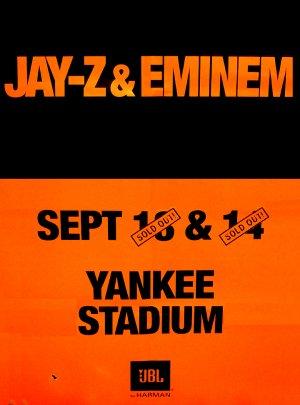 Jay z eminem yankee stadium original music concert poster 2 x jay z eminem yankee stadium original music concert poster 2 x 3 rare malvernweather Choice Image