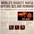 Mafia Wars * Las Vegas * Original Game Poster 4' x 6' Rare 2010 NEW