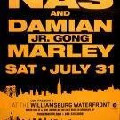 NAS & Damian Marley *WILLIAMSBURG NYC* Orig Music Concert Poster 2'x3' Rare 2010 NEW