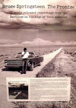 Bruce Springsteen * THE PROMISE : DARKNESS ON EDGE OF TOWN * Poster 2' x 3' Rare 2010 NEW