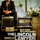 The Lincoln Lawyer Original Movie Poster * Matthew McConaughey *HUGE 4' x 6' Rare 2011 NEW
