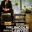 The Lincoln Lawyer Original Movie Poster * Matthew McConaughey *HUGE 4' x 6' Rare 2011 NEW