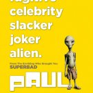 PAUL Original Movie Poster * Simon Peg * HUGE 4' x 6' Rare 2011 Mint