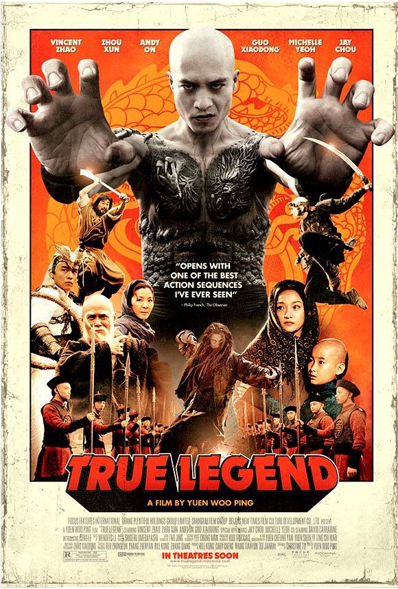 "Woo-ping's TRUE LEGEND ( ��� / Sū q� ér ) Original Movie Poster 27"" x 40"" Rare 2011 Mint"