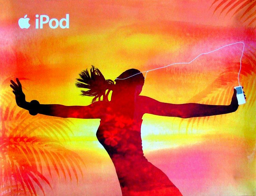 iPod Original AD Poster TROPICS Huge 4' x 5' RARE 2007 NEW