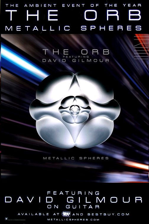 The Orb / David Gilmour * Metallic Spheres * Original Music Poster 2' x 3' Rare 2010 Mint