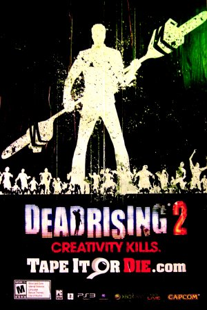 DEAD RISING 2 Original Game Poster * Creativity Kills * HUGE 4' x 6' Rare 2010 Mint