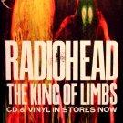 "RadioHead * THE KING OF LIMBS * Original Music Poster 14"" x 22"" Rare 2011 Mint"
