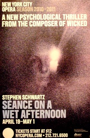 """New York City Opera SEANCE ON A WET AFTERNOON Theater Poster 14"""" x 22"""" Rare 2011 Mint"""
