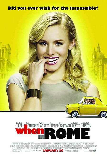 "WHEN IN ROME Original Movie Poster * Kristen Bell * 27"" x 40"" Rare 2010 Mint"