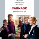 "Roman Polanski's CARNAGE Original Movie Poster * Kate Winslet * 27"" x 40"" Rare 2011 Mint"