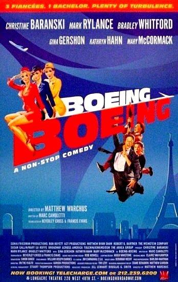 "BOEING BOEING Broadway Poster * GINA GERSHON * 14"" x 22"" Rare 2008 NEW"