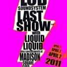 LCD Soundsystem * LAST CONCERT Madison SQ Garden NYC * Original Concert Poster 2'x 3' Rare 2011 Mint