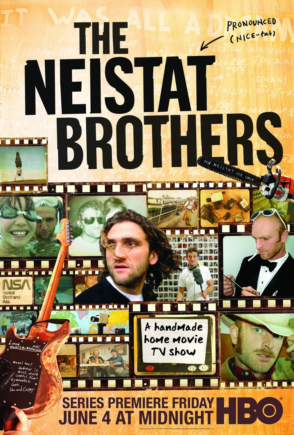 The Neistat Brothers Original Series Poster HBO 2' x 3'  Rare 2010 Mint