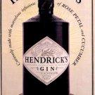 Hendrick's Gin Original AD Poster * A MOST UNUSUAL GIN * 2' x 3' NEW 2009 Rare