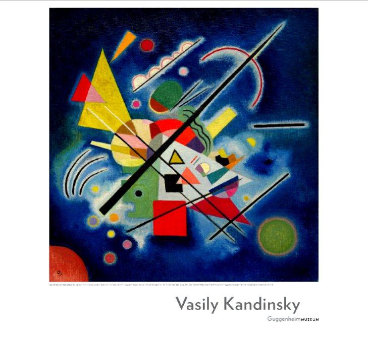 KANDINSHY Guggenheim Museum Original Exhibit Poster * BLUE PAINTING * 2' x 3' NYC Rare 2008 Mint
