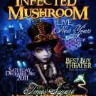 INFECTED MUSHROOM Original Concert Poster 2' x 2' BB Theater NYC Rare 2011 Mint