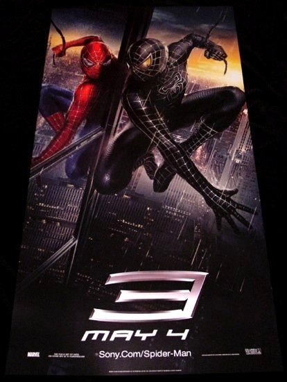 SPIDERMAN 3 Movie Poster * VENOM REFLECTION * 2' x 4' Rare 2007 NEW