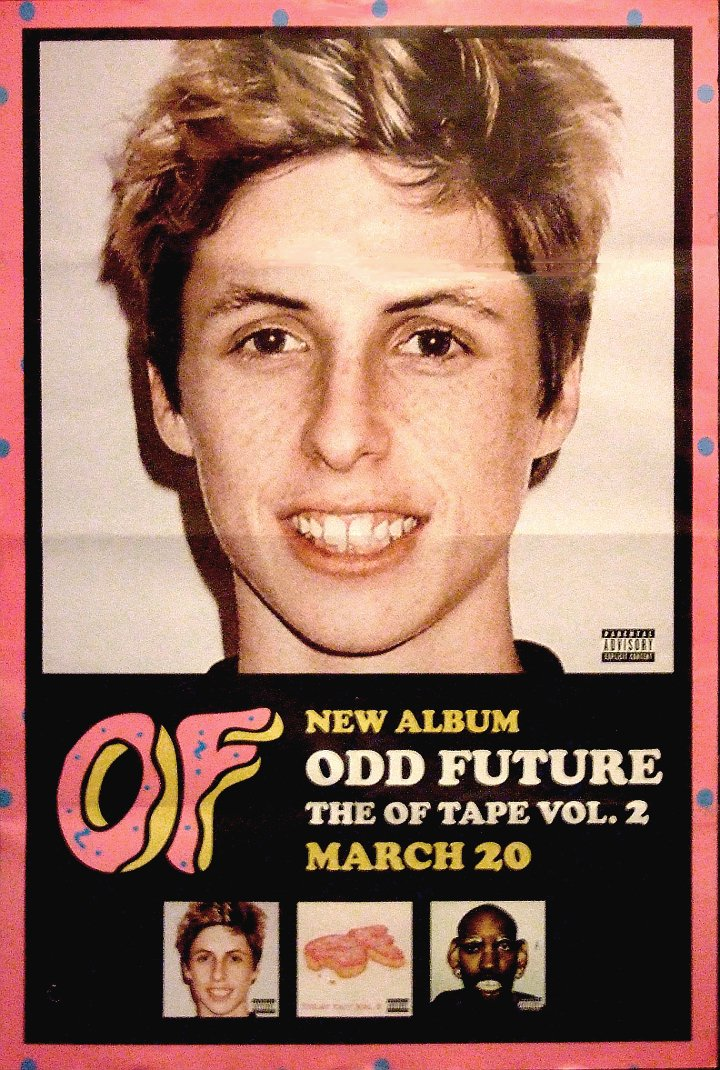Odd Future OFWGKTA * OF TAPE VOL 2 * Original Music Poster 3