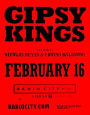 GIPSY KINGS Original Concert Poster 2' x 3' Radio City NYC Rare 2011 Mint