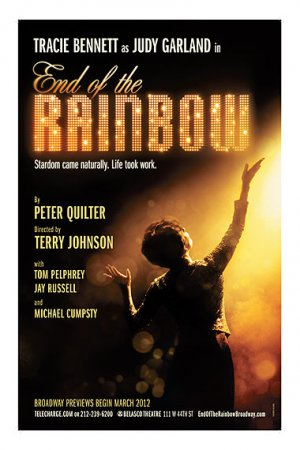"""END OF THE RAINBOW Original Broadway Theater Poster * Tracie Bennett * 14"""" x 22"""" Rare 2012 Mint"""
