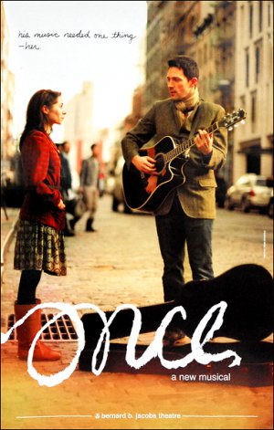 "ONCE Original Broadway Theater Poster * Cristin Milioti & Steve Kazee * 14"" x 22"" Rare 2012 Mint"