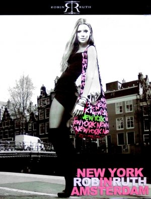 Robin Ruth * NEW YORK in AMSTERDAM * Original Fashion Poster 2' x 2'  Rare 2011 Mint