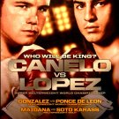 Canelo vs Lopez * Knockout Kings * Original Boxing Poster 2' x 3' Rare 2012 Mint